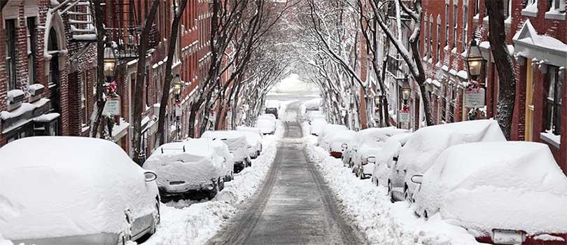 Boston Massachusetts Snow