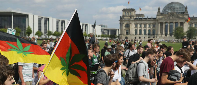 The Hanfparade (English: Hemp Parade) in Berlin, Germany.