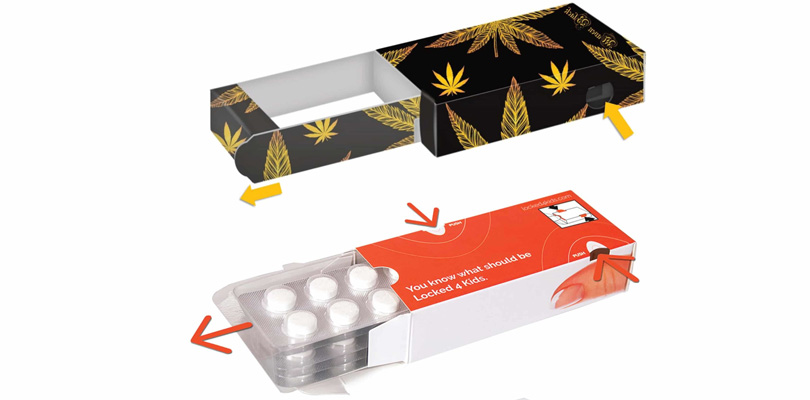 Child safety cannabis packaging