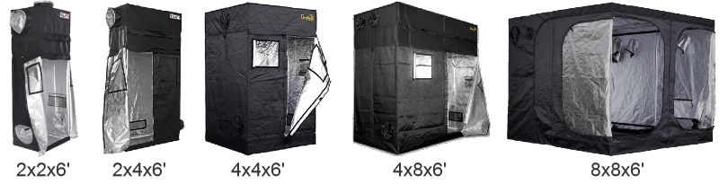 The Different Sizes of Grow Tents