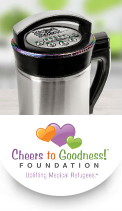 Magical Butter Device and Cheers to Goodness Logo