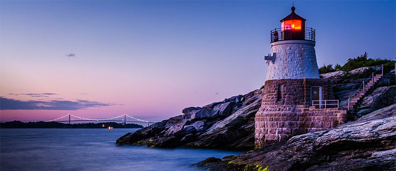 Rhode Island Coast and Lighthouse