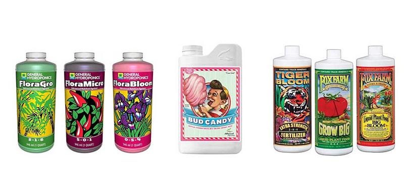 Various Liquid Nutrient Solutions